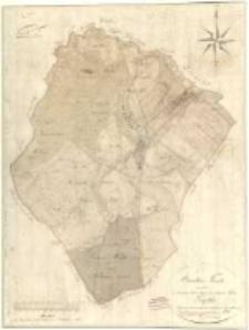 Brouillon Karte von dem im Szrimschen Kreise belegenen adelichen Guthe Gądki 1809 durch Sieg