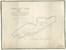 Gemarkung Zwollno Hauland Karte des Theiles vom Santomysler See welcher irrthumlich zum Gute Klein Jeziory [...]. Frau Gräfin Działyńska gehört nach einer im [...] 1790 vom [...] Pott. [...] Karte regulirt und eingemessen am [...] 1868 vom Fresenius.