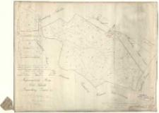Regierungsbezirk Posen Kreis Schroda, Gemarkung ˝imin Gut [...]. Vermessen durch Schulz copirt 1825 durch Kuhn, recopirt [...] im Jahre 1861 durch Werner [...], gefertigt am [...] 1865 durch [...] Majunke für [...] der Obergeometer Neuman.