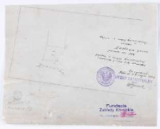 Kopia z mapy katastralnej obrębu Dachowa gmina [...] przekop[iował] [...] T. Szczebliński