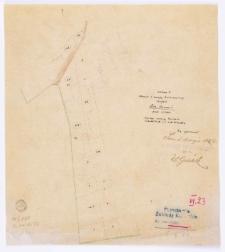 Kopia z mapy katastralnej obrębu Gm[iny] Czmoń [...] przekopiował [...] T. Szczebliński [...].