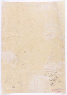 Kopja z mapy katastralnej obrębu Prowent Bnin. Mapa 2 [...] przekopiował z mapy katastralnej T. Szczebliński [...]