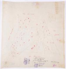 Kopja [!] mapy katastralnej obrębu [...] Prusinowo [...]. Przekopjował [!] T. Szczebliński.
