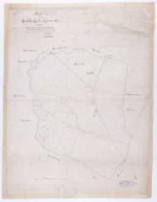 Ka[rte] von Gądki Gut u. Gemeinde. Copirt nach der von Sieg'schen Karte de 1809 entnommenen Götz'schen Copie de 1827 u. vervollständigt... im M ärz 1882 vom... Ristow