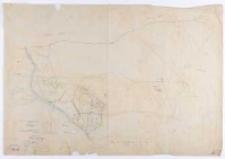 Kopia z mapy katastralnej obrębu Zwola las [...]. Przekopiował [...] T. Szczebliński.