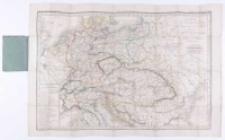 Carte d'Allemagne comprenant les états de la Confédération Germanique et l'empire d'Autriche Par Hérisson.