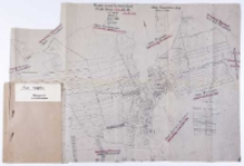 Kopia mapy katastralnej. Obręb Bnin - Prowent [...] w 3 kartach [...]. Sprawdził [...] B. Janicki.
