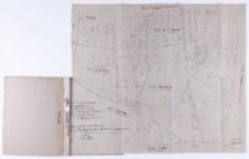 Kopia mapy katastralnej. Obręb Pierzchno [...] i Celestynowo [...] Sprawdzono [...] B. Janicki [...].