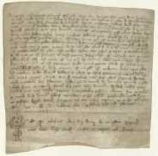 [Wprowadzenie Daniela syna Dominika Pasquallini w posiadanie 4 łanów leżących w Versute, przez ich poprzedniego właściciela Mikołaja de Basalgella, za pośrednictwem wysłannika Franciszka syna Jana z Vitalta.]