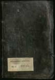 """""""Descriptio Poloniae scilicet Variarum Historiarum Praecipue Cardinalium, Archiepiscoporum, Episcoporum, Canonicorum, Religiosorum, Regum, Sanctorum, Nobilium, Virginumque, Tam Martirum quam Confessorum Aliarumque [...] Rerum ex Variis Authoribus Approbatis Collecta per me Aemilianum Krzemycki OSB Protunc Concionatorem Ordinarium Tuchoviensem [...] scripsi Anno Domini 1723 Tuchoviae 16 9-bris."""""""