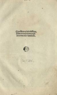 Quaestiones in Aristotelis libros De caelo et mundo. Ed. Hieronymus Surianus.