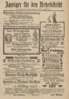 Anzeiger für den Netzedistrikt Kreis- und Wochenblatt für Kreis und Stadt Czarnikau 1911.12.09 Jg.59 Nr147