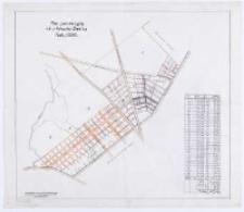 Plan parcelacyjny ról z folwarku ˝renica. Na podstawie kopii z mapy katastralnej projektował T. Szczebliński.