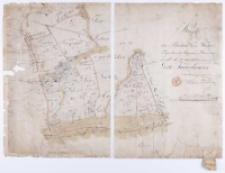 Karte von [...] belegenen dem Herr von Zabłocki [...] gehoerigen Guthe Jarosławiec Im October 1820 speciet vermessen vom Reus