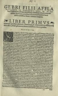 Gebri filii Affla [...] libri IX De Astronomia [...].