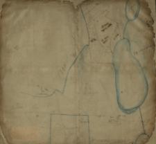 [Rękopiśmienny szkic, na którym zaznaczono nazwiska właścicieli gruntów położonych między jeziorem a lasem Czołowskim].