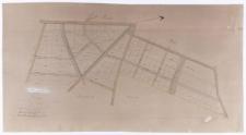 Plan parcelacyjny części maj[ątku] Źrenica. Wykonano [...] zgodnie z mapą katastralną [...].