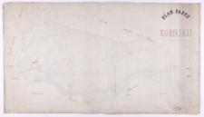 Plan parku w Kórniku. , Pomierzył Ziehlke, uzupełnił i przerysował [w] 1862 roku Biederman