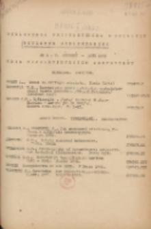 Biuletyn Biblioteczny.Spis Najważniejszych Przybytków 1953 styczeń/luty Nr1/2