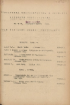 Biuletyn Biblioteczny.Spis Najważniejszych Przybytków 1953 lipiec/sierpień Nr7/8