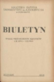 Buletyn.Wykaz Ważniejszych Nabytków 1 VII 1954 - 1 VII 1955