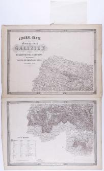 General-Karte des Königreiches Galizien und des Herzogthumes Bukowina herausgegeben vom K. K. Militär-geographischen Institute im Jahre 1868.