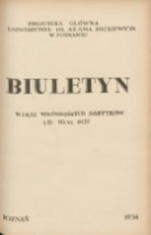 Biuletyn.Wykaz Ważniejszych Nabytków 1 IV - 30 VI 1957