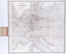 Post- und Reise-Karte von Mittel-Europa. Herausgegeb. von L. Friedrich.