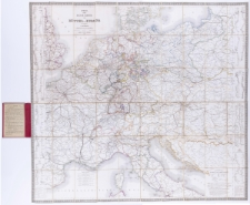 Post- und Reise-Karte von Mittel-Europa. Hrsg. von L. Friedrich.