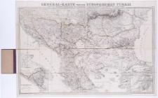 General-Karte von der Europaïschen Türkei [...] Bearb. u. gez. von Heinrich Kiepert. Schrift gestoch. von W. u. C. Kratz. Terrain radirt v. C. Ohmann.