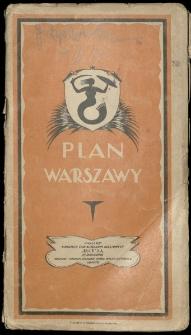 Plan miasta stołecznego Warszawy.