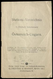 G. Freytags Verkehrs-Karte von Österreich-Ungarn.