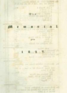 Die landwirthschaftliche doppelte Buchhandlung : oder vollständige Anleitung eine jede Landwirthschaft nach den Grundsätzen der doppelten oder italienischen Buchhaltungswissenschaft zu berechnen : die dazu erforderlichen Bücher einzurichten, zu führen, abzuschließen und die Saldos von neuem vorzutragen [4] Das Memorial pro 1827