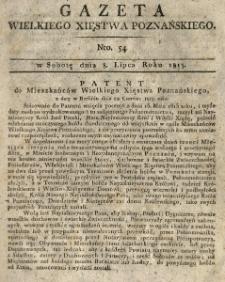 Gazeta Wielkiego Xięstwa Poznańskiego 1815.07.08 Nr54