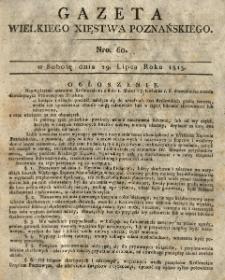 Gazeta Wielkiego Xięstwa Poznańskiego 1815.07.29 Nr60
