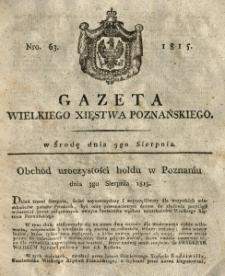 Gazeta Wielkiego Xięstwa Poznańskiego 1815.08.09 Nr63