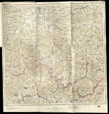 Mapa turytyczna Karpat Polskich.