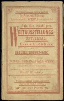 Wien mit seinen Vorstädten und der Weltausstellung 1873.