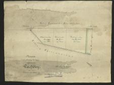 Mappa części odciętej koleją od folwarku Dachowy. Pomierzył [...] A. Kausz.