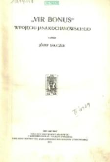 """'Vir bonus"""" w pojęciu Jana Kochanowskiego"""