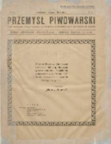 Przemysł Piwowarski : organ Centr. Związku Przemysłu Piwowarskiego i Słodowniczego w Rzeczypospolit. Polskiej 1927.01.01 R.5 Nr1