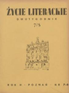 Życie Literackie 1946.04.01-04.30 R.2 Nr7/8