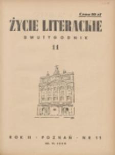 Życie Literackie 1946.06.20 R.2 Nr11