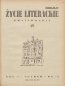 Życie Literackie 1946.08.25 R.2 Nr15