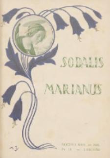 Sodalis Marianus : kwartalnik wydawany przez Zarząd Centralny Związku Kongregacyj Maryańskich 1925.11 R.24 Nr11