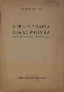 Bibliografia białowieska