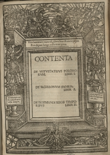 De vetustatibus Polonorum liber I. De Jagellonum familia liber II. De Sigismundi (I) regis temporibus liber III