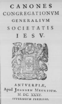 Canones Congregationum Generalium Societatis Iesu