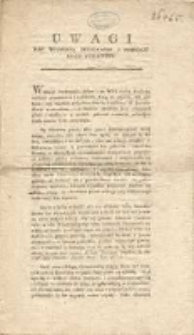 Uwagi nad wolnością drukowania y przedaży ksiąg publiczney