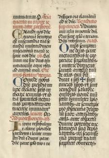 Tekst liturgiczny łac. z XV wieku - fragment
